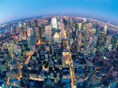 night view of New York --- Image by © HIROYUKI MATSUMOTO/amanaimages/Corbis